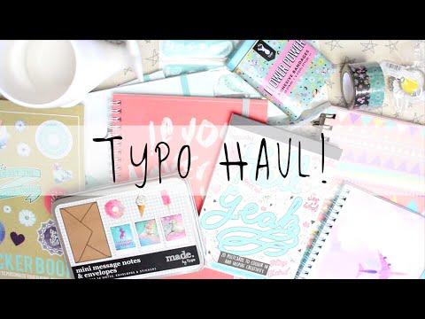 Typo Stationery & Craft Haul! April 2016   MyGreenCow