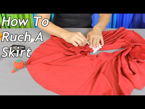 How To Ruch A Skirt