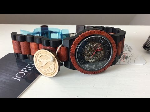 Unboxing Watch Made Of Wood From Jord Dover Series