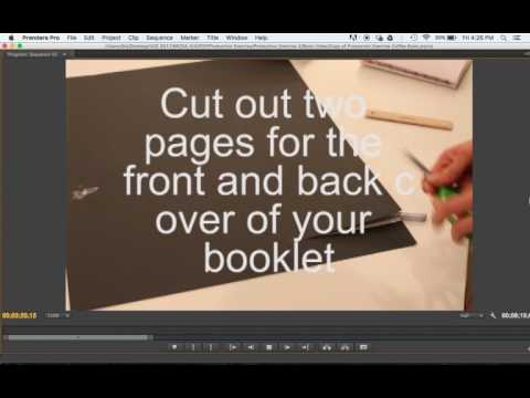 How to Make a Coffee Table Book - Book Binding