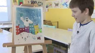 Snowmageddon through the eyes of 7-year old artist