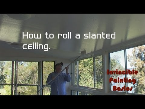 How to; Roll a slanted ceiling (made easy)