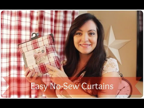 No Sew Curtains from Ready Made Tablecloths