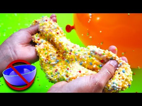 Slime in a Balloon Challenge! How to make Birthday Floam Slime without a bowl!