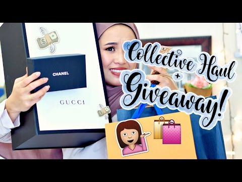 💰 Collective Haul +GIVEAWAY!! 💰 Louis Vuitton, Chanel, YSL, Gucci Bag, Sephora etc!