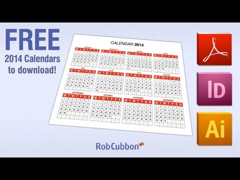 Free 2014 Calendars as PDF, Illustrator, InDesign and Photoshop files for Download!