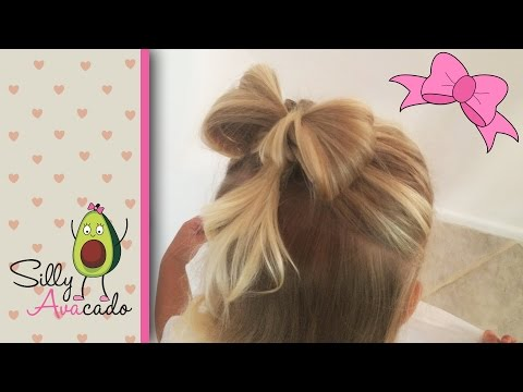 Hair Bow Hairstyle Tutorial ❤ Easy & Cute ❤ How to do a Hair Bow for Toddler Girls