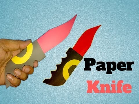 How to make a paper knife easy |Paper knife origami|Make paper pocket knife