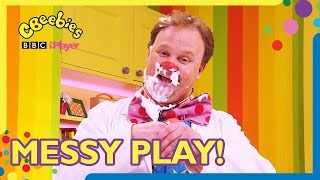 Messy Play Compilation for Children!   Mr Tumble and Friends   CBeebies