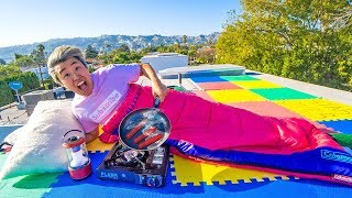 24 Hour Challenge on Carter Sharer's Roof!