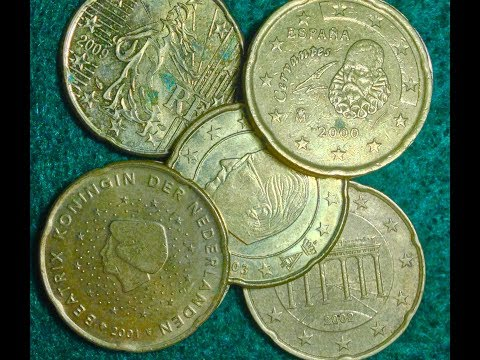Twenty Euro Cent Coins - Euro Coin Collection From 8 Countries