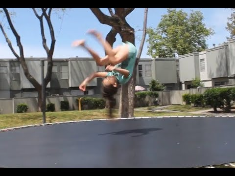 gymnastics on trampoline