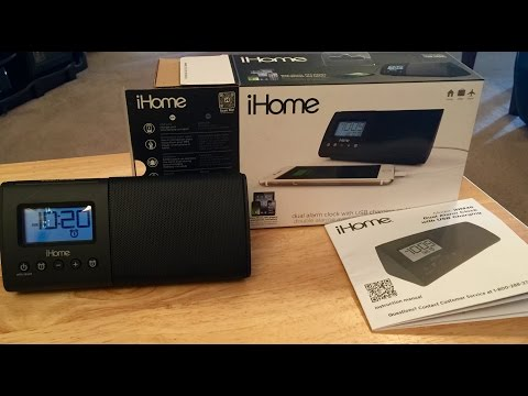 iHome Dual Alarm Clock (Model iHM46)