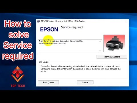 Epson Ink pad is at the end of its service life error problem solution(L110, L210, L300, L350, L355)