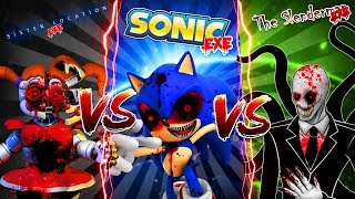 Minecraft SLENDERMAN VS SONIC.EXE VS BABY FNAF SISTER LOCATION - CAN SLENDERMAN DEFEAT THE OTHERS??