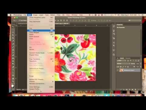 How to make a repeat pattern  for textiles design in Adobe Photoshop stage 3