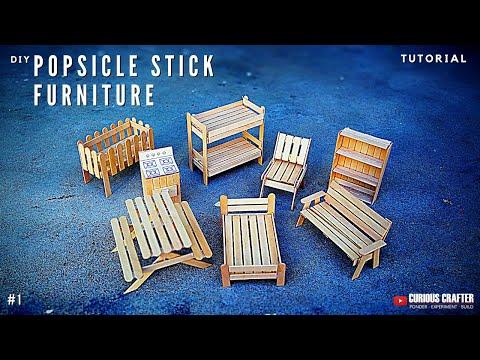 Popsicle Stick Furniture - Tutorial