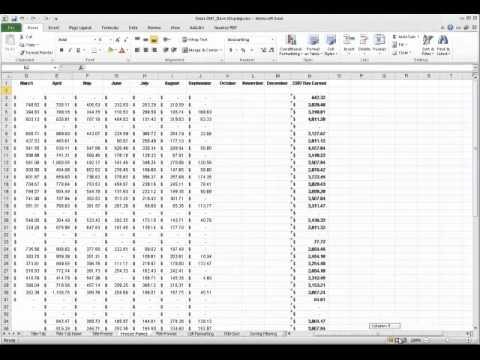 Excel 2010 - Freeze Panes