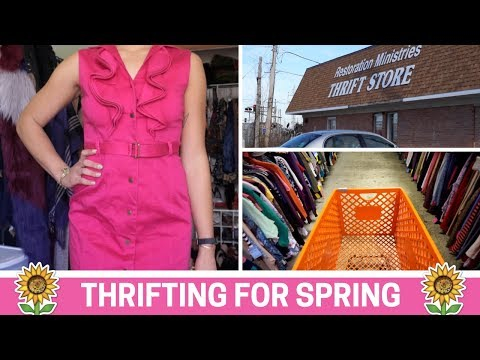 Come Thrifting With Me: Chicago Suburbs + Spring Thrift Try On | PAIGE MARIAH