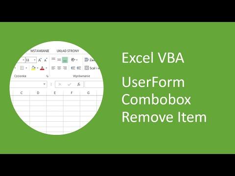 Excel VBA UserForm Combobox Remove Item