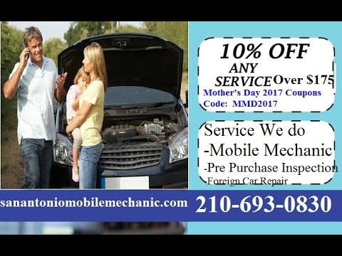 Auto Repair Coupons deals Special Offers San Antonio Mobile Car Mechanic Service Best Pre Purchase