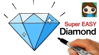 How to Draw a Diamond Super Easy