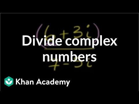 Dividing complex numbers | Imaginary and complex numbers | Precalculus | Khan Academy
