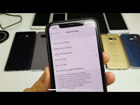 iPhone X: How to Change Video Resolution (4k 60fps, 4k, 1080p 60fps, 1080p, etc)