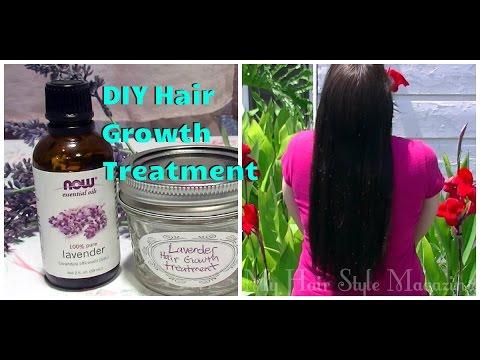 DIY Lavender Hair Growth Treatment to get Long Hair Tutorial