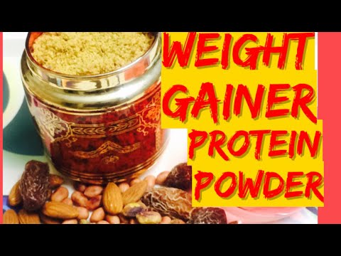 HOMEMADE PROTEIN POWDER FOR WEIGHT GAINIHOW TO MAKE WEIGHT GAINER AT HOME BY GorgeousYou