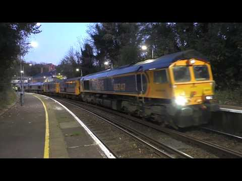 (HD) Trains at West St Leonards, with Class 66,73, MPV & Network Rail grinders