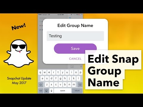 How to Edit Snapchat Group Name