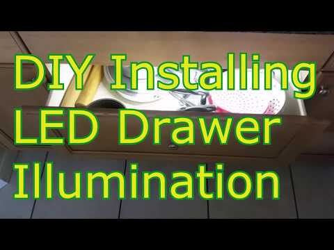 DIY Drawer LED lighting and illumination Instructional Video