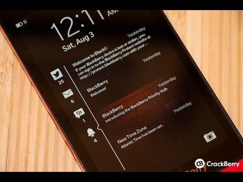 Quick Look: BlackBerry 10.2 lock screen notifications
