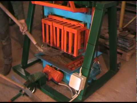 Concrete Block Making Machine BLOX-3 - DIY (Do It Yourself) - Homemade from drawings.