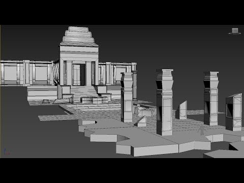 Modeling Temple ruins 3ds max tutorial part - 2