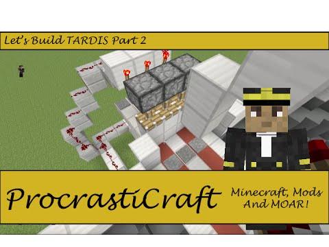 Minecraft Let's Build| TARDIS Part 2| A Minecraft Gameplay