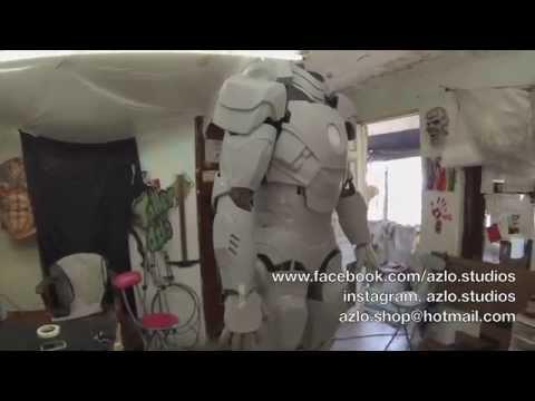 Iron Man Armor Mark 7 making on fiberglass