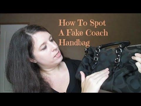 HOW TO SPOT A FAKE COACH HANDBAG