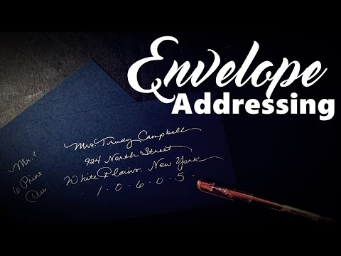 DIY Calligraphy Tools and Tips for Envelope Addressing
