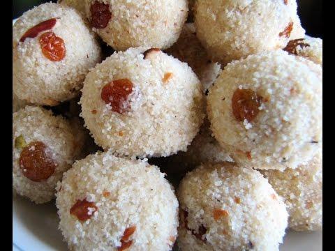 Rava coconut laddu రవ కొబ్బరి లడ్డు