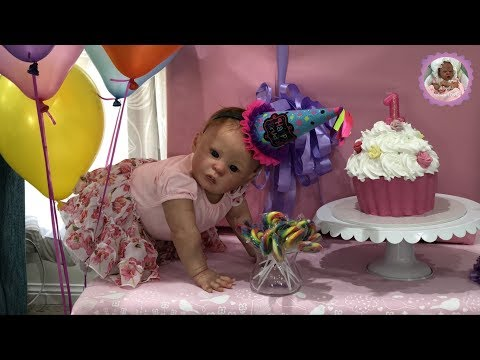 BIG BIRTHDAY SURPRISE PARTY FOR REBORN BABY NATALIE - THEME THURSDAY - SWEET TREATS!