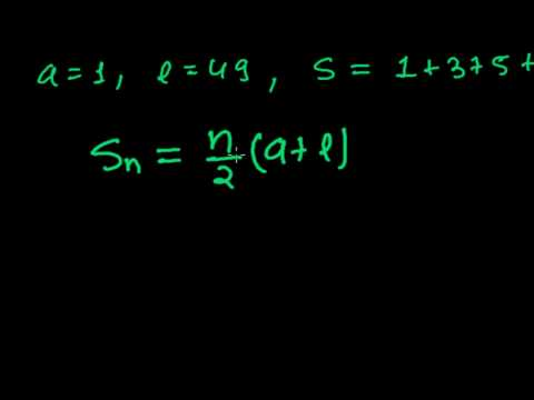 How to Find the Sum of odd Numbers - Using Sum of N terms Formula of Arithmetic Series