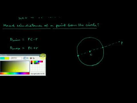 Lecture 6: Position of a point and max n min distance of a point from circle by Shobhit Sir