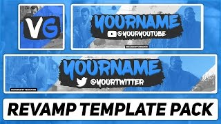 Free Photoshop Template | Gaming Revamp Pack (YouTube Banner