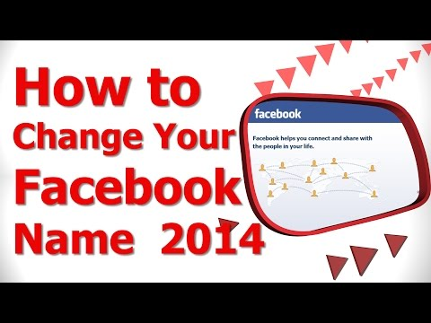 How to Change Your Facebook Name 2014