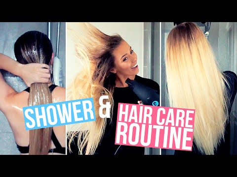 My Shower & Hair Care Routine ♡