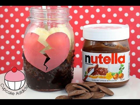 BREAK-UP BROWNIE Recipe! 2 Minute Chocolate Nutella Brownie Jar