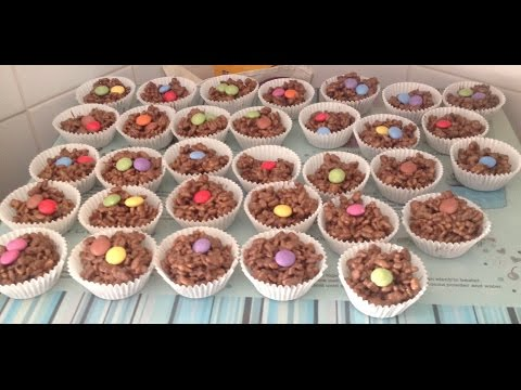 How to cook chocolate rice krispie buns