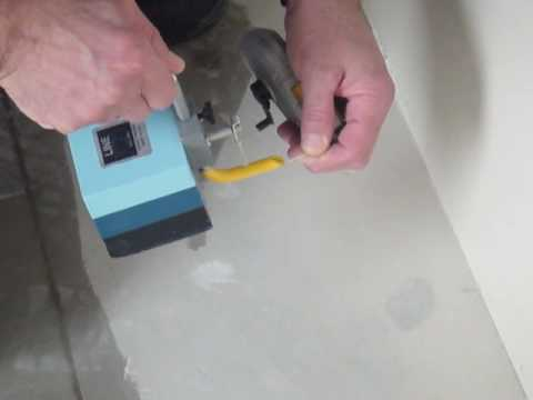 A.Q.T. Line Frog  Video 4.  How to pop a vertical chalk line yourself on the wall.